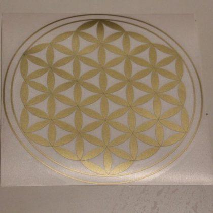 Samolepka do interiéru i exteriéru Květ života – libovolná barva, 25 cm
