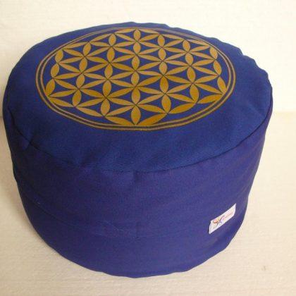 Meditační polštář s Květem života – různé barvy, 12 cm vysoký