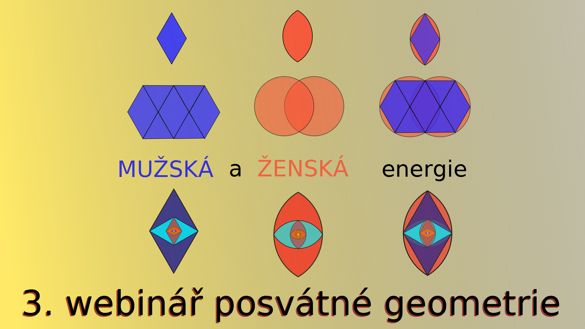 3. webinář o posvátné geometrii: Mužská a ženská energie