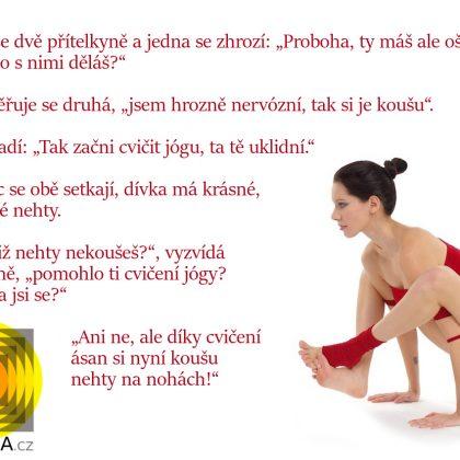 Vtip: Tak začni cvičit jógu, ta tě uklidní…