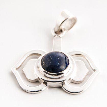 Čakrový přívěsek Ajna stříbrný s lapis lazuli