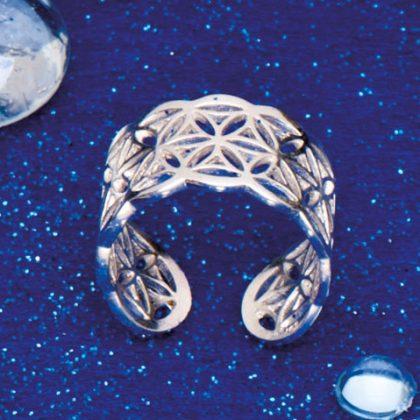 Prsten Květ Života stříbrný