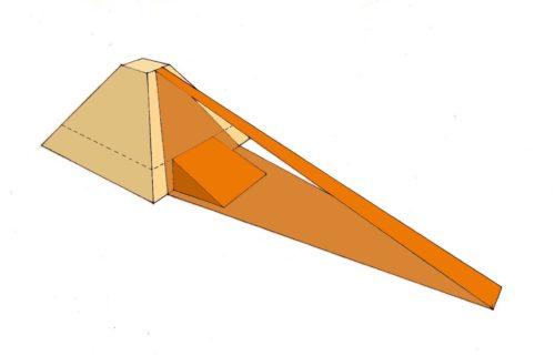 Možné podoby ramp, pomocí kterých byly prý stavěny pyramidy