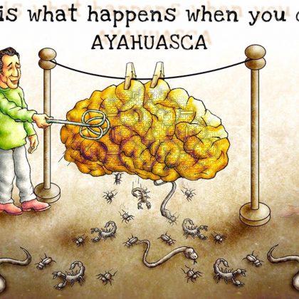 Vtip: To se stane, když pijete ayahuascu…