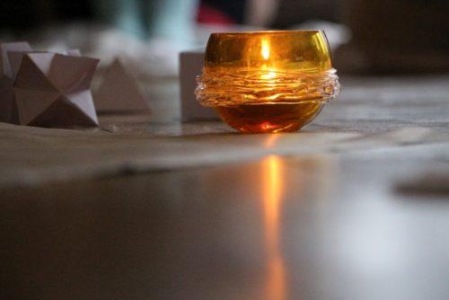 Svíčka a posvátná geometrie na semináři Merkaba