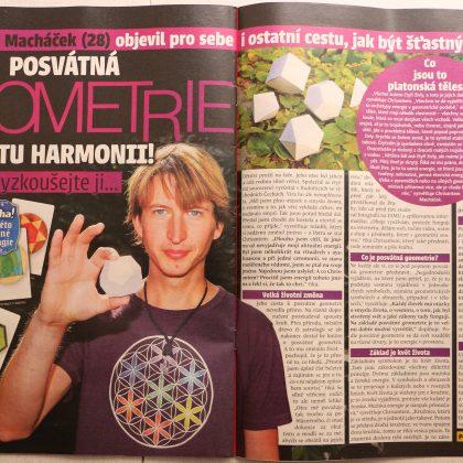 Článek o posvátné geometrii a Chrisantemovi v časopise Aha! pro ženy