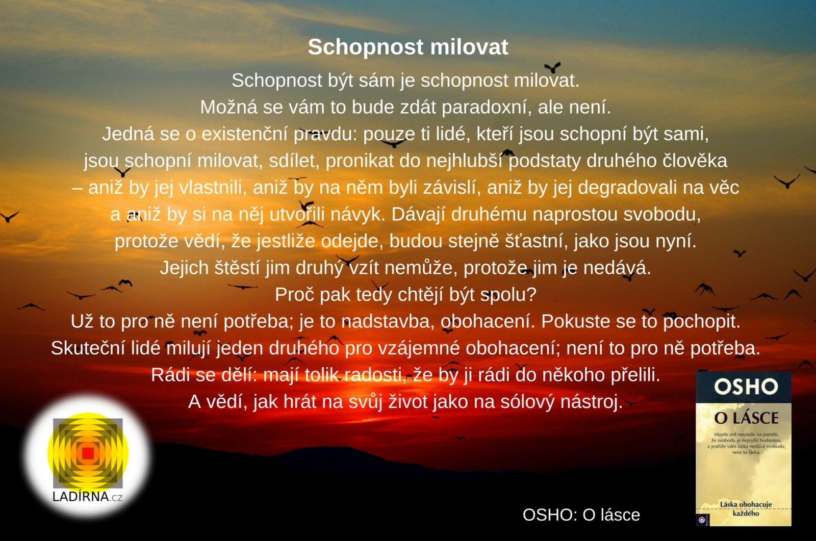 Citát Osho: Schopnost milovat
