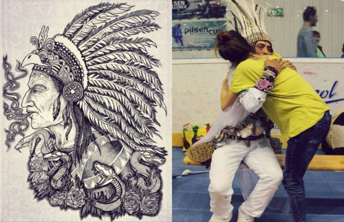 Kresba Šaman a setkání se šamanem Donem Sergiem