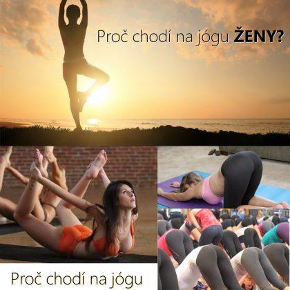 Vtip: Proč chodí na jógu ženy a muži?