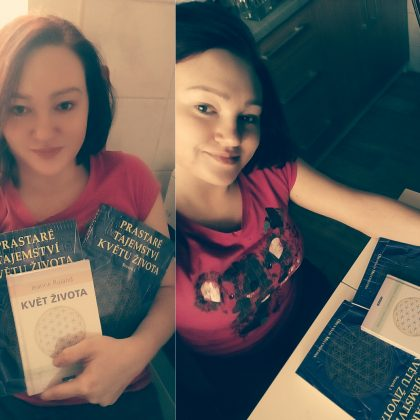 Čtenářka Míša s knížkami Prastaré tajemství květu života