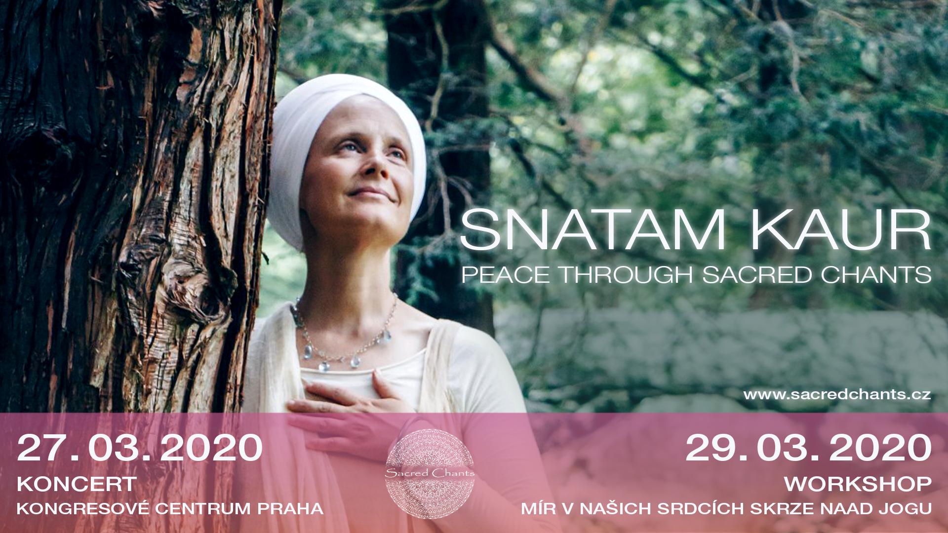 """Workshop Snatam Kaur """"Mír v našich srdcích skrze Naad Jogu"""" v Praze (slevový kupón)"""